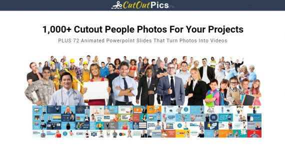 1000+ CutOut People Photos, Plus 72 Animated Slides